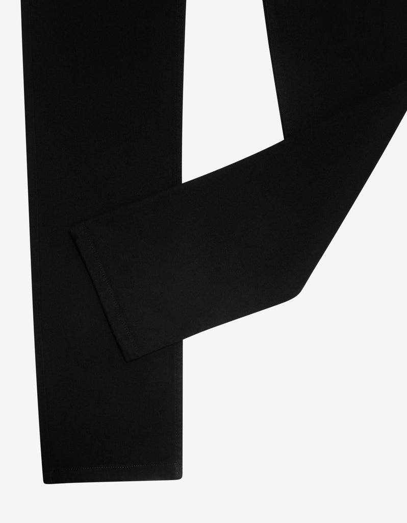 Black Barocco Embroidery Slim Jeans