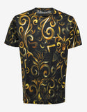 Black Baroque Print T-Shirt