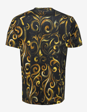 Versace Black Baroque Print T-Shirt