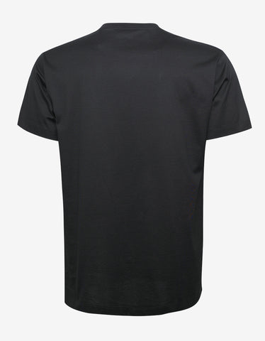 Versace Black Belt Print T-Shirt