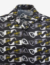 Black Biggie Sunglasses Print Short Sleeve Shirt