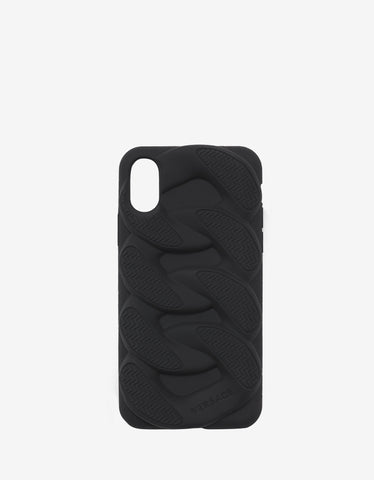 Versace Black Chain Reaction iPhone X Phone Case