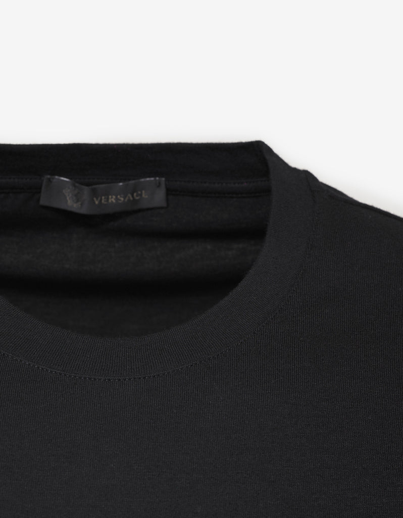 Black Beverly Palm Embroidery T-Shirt