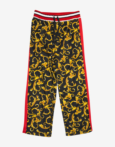 Versace Black & Gold Baroque Sweat Pants