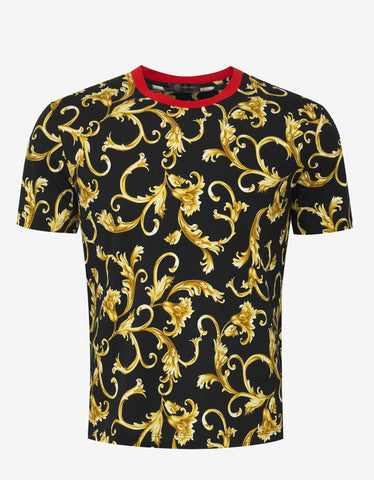 Versace Black & Gold Baroque T-Shirt