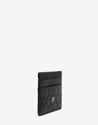 Versace Black Greek Key Medusa Card Holder