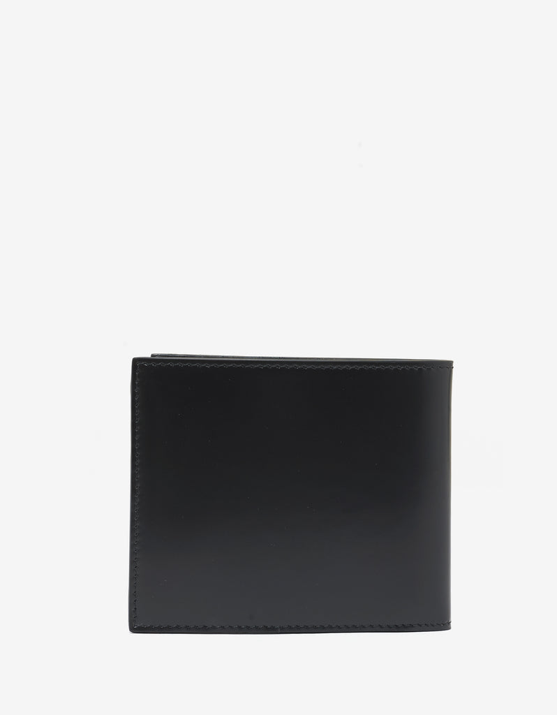 Black Medusa Billfold Wallet with Rivets