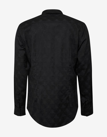 Versace Black Medusa Embroidery Shirt