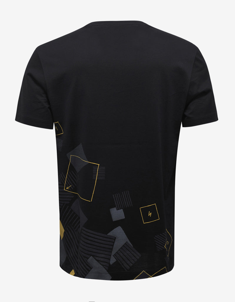 Black New Medusa Print T-Shirt