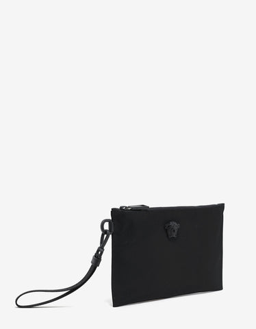 Versace Black Nylon Medusa Small Pouch