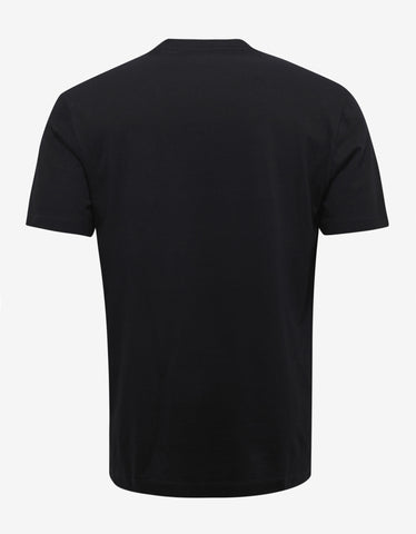 Versace Black Painted Medusa T-Shirt