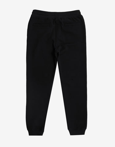 Versace Black Sweat Pants with Multicolour Vintage Logo
