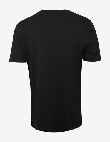 Versace Gym Black T-Shirt with Grey Logo Gym Print