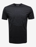 Black Tonal Medusa Embroidery T-Shirt