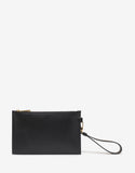 Black Vintage Logo Leather Pouch