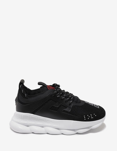 Versace Chain Reaction Black Trainers