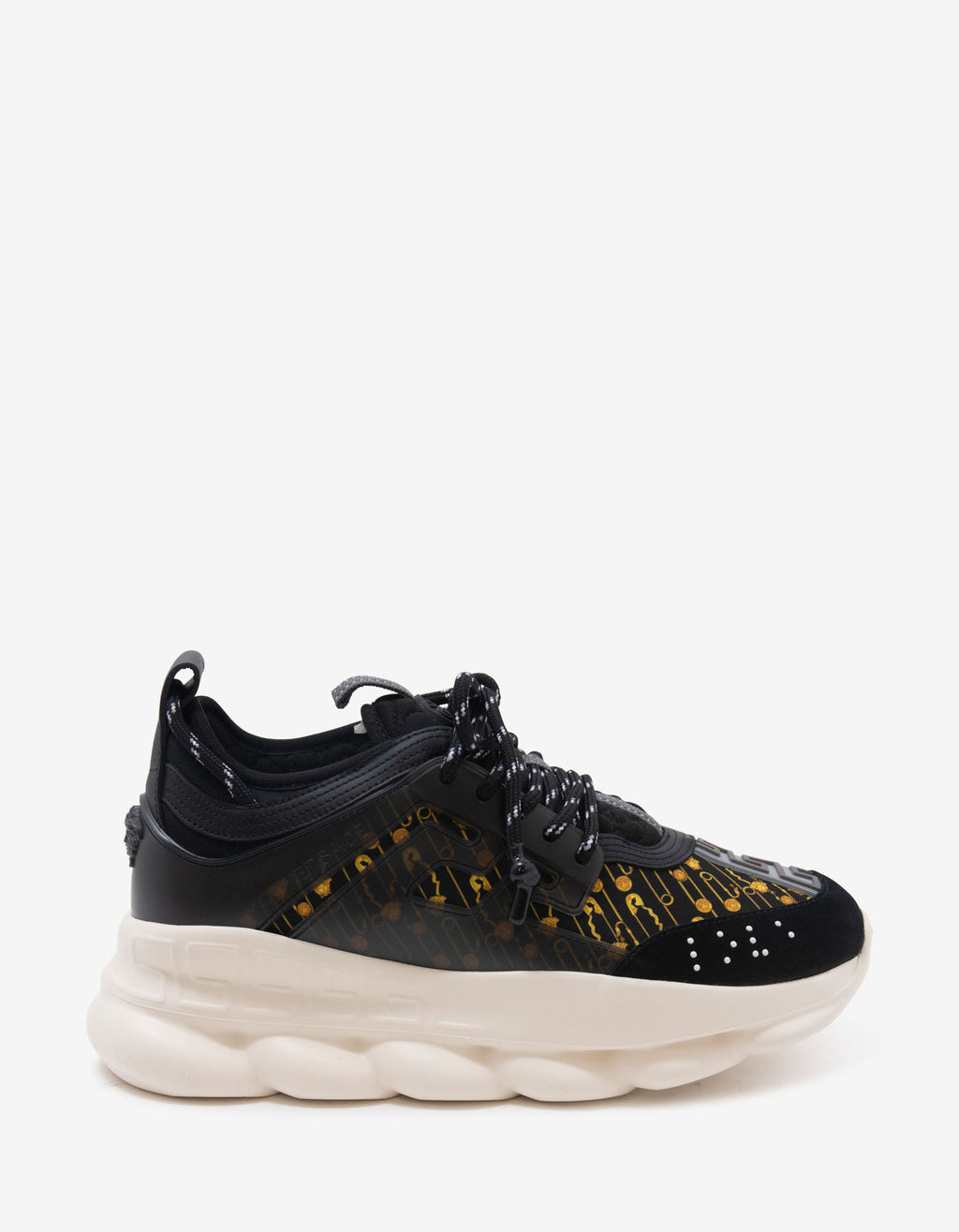 Chain Reaction Safety Pin Print Trainers