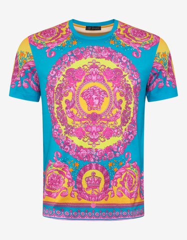 Versace Fluo Barocco Print T-Shirt