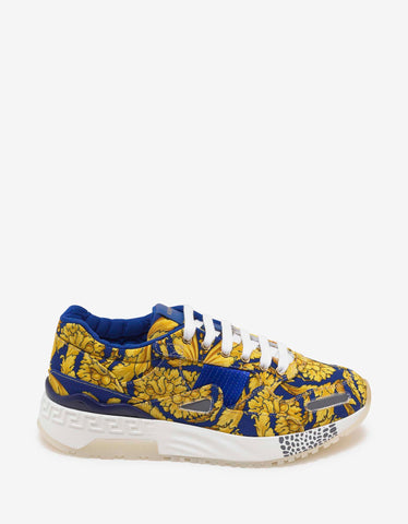 Versace Gold Barocco Print Achilles Trainers