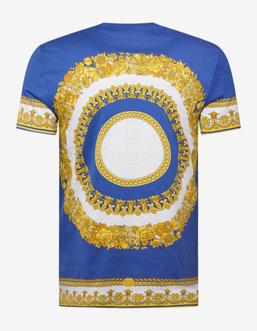 Versace Gold Barocco Print Slim Fit T-Shirt