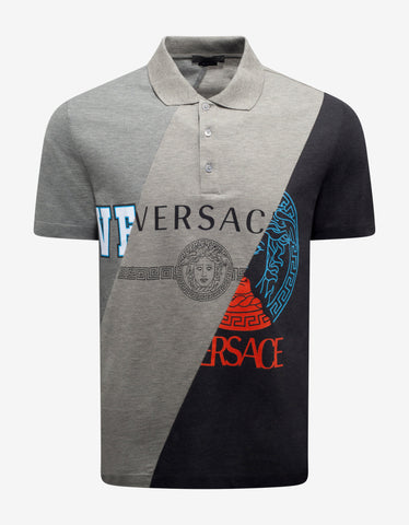 Red Via Gesù Plaque Print T-Shirt