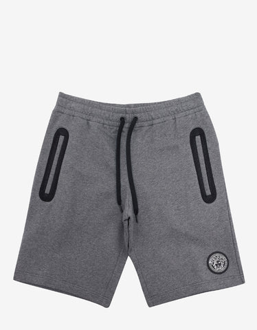 Versace Gym Grey Sweat Shorts with Medusa Badge