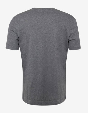 Versace Gym Grey T-Shirt with Blue Logo Gym Print