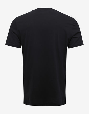 Versace Gym Black Logo Gym Print T-Shirt