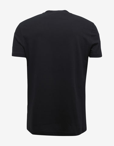 Versace Gym Black Medusa Logo Badge T-Shirt