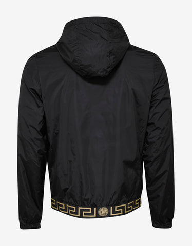 Versace Gym Black Medusa Logo Lightweight Jacket