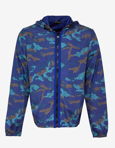 Versace Gym Blue Camo Medusa Print Lightweight Jacket ...