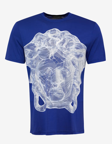 Versace Gym Blue Medusa Graphic Print T-Shirt