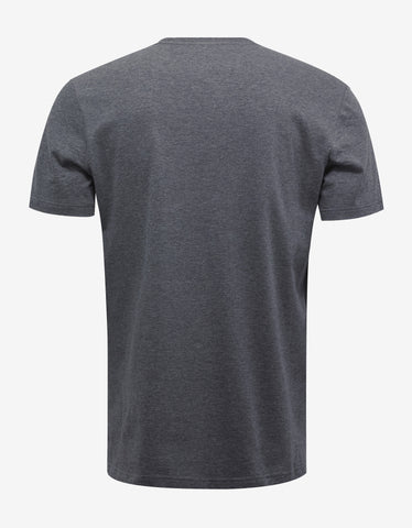 Versace Gym Grey Logo Gym Print T-Shirt