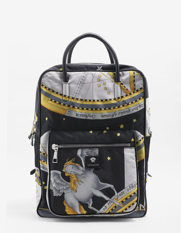 Versace Horoscope Print Backpack