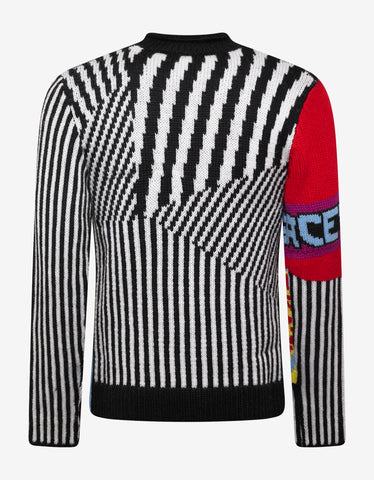 Multi-Graphic Wool Sweater