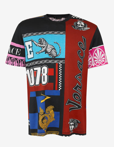 Versace Multi-Panel Graphic T-Shirt