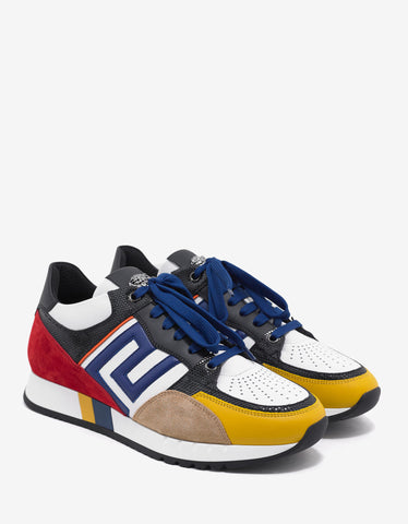 Versace Multicolour Panelled Running Trainers