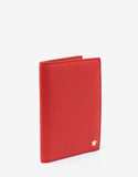 Red Grain Leather Medusa Passport Holder