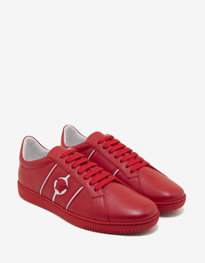 Martin Red Medusa Crest Trainers