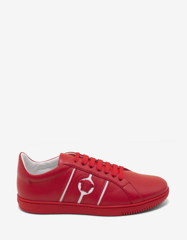 Versace Martin Red Medusa Crest Trainers