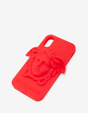 Red Medusa Silicone iPhone X Phone Case