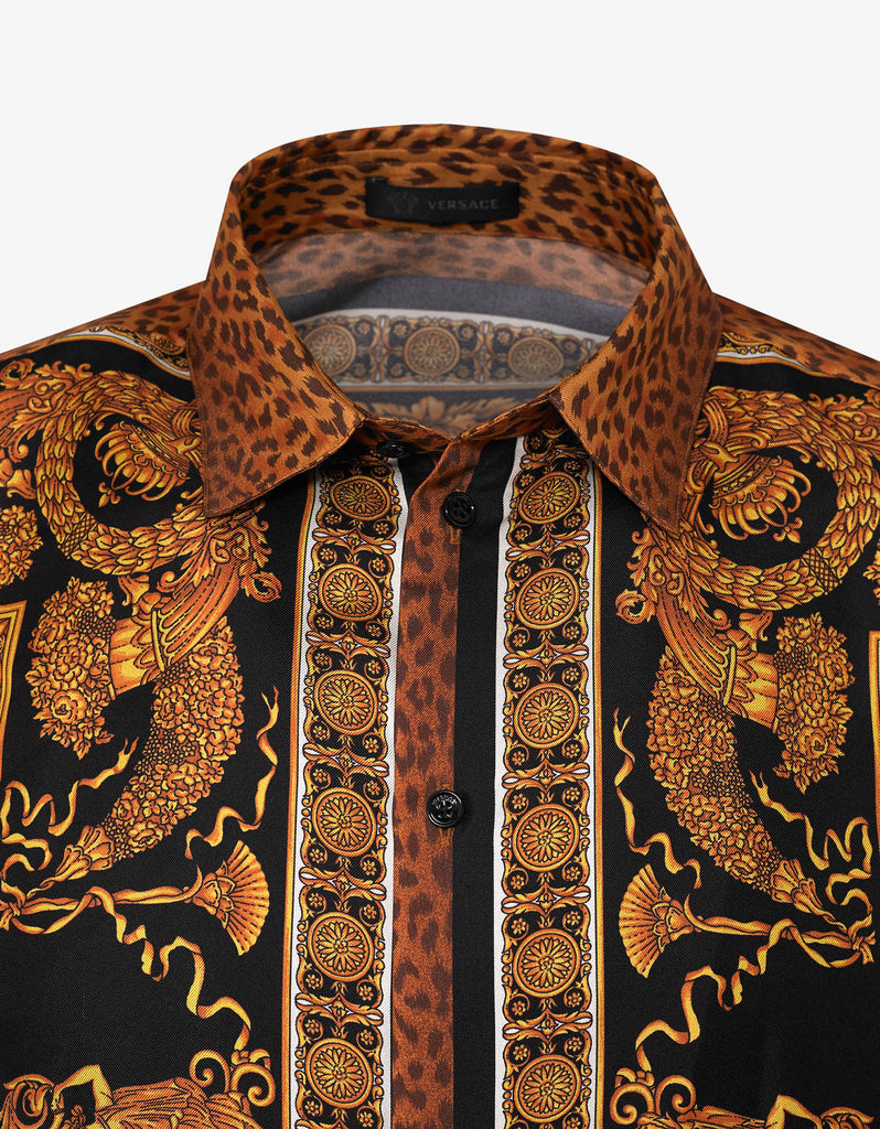 Signature Wild Print Silk Shirt