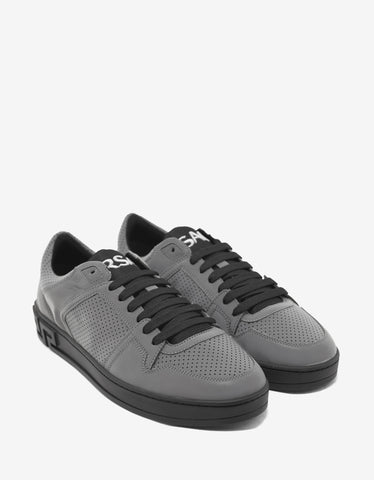 Versace Eros Reflective Grey Low Trainers