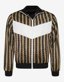 Greek Key Stripe Jacket with Chest Panel