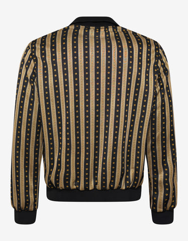 Versace Greek Key Stripe Jacket with Chest Panel