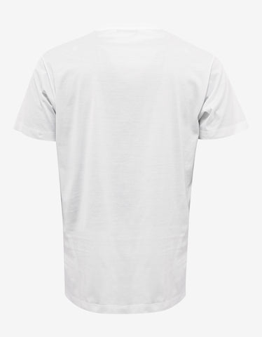 Versace White Belt Print T-Shirt