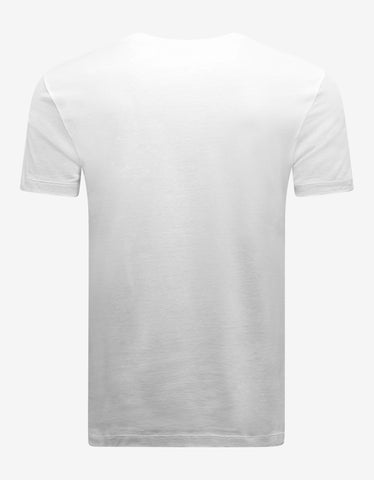 Versace White Safety Pin Print T-Shirt