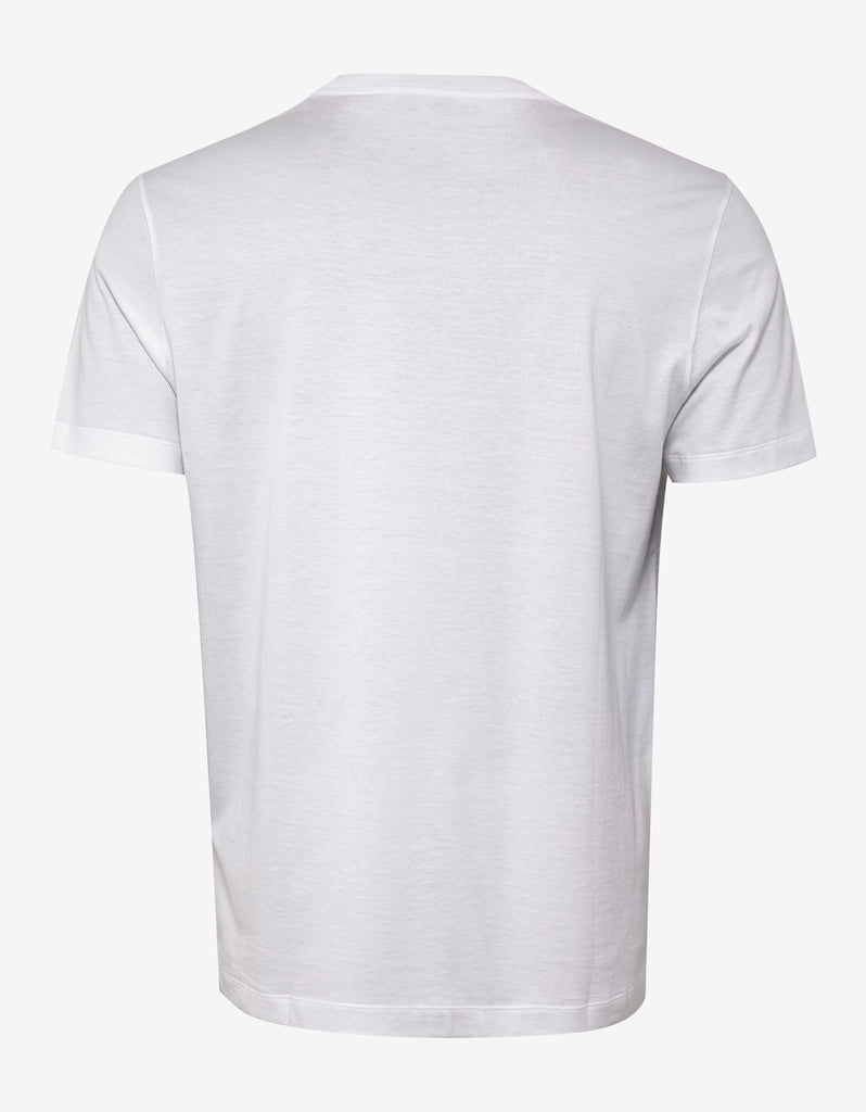 White T-Shirt with Multicolour Vintage Logo
