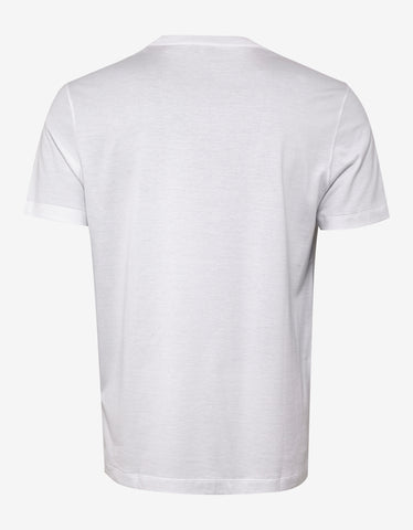 Versace White T-Shirt with Multicolour Vintage Logo