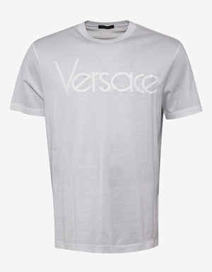 White Vintage Logo Embroidery T-Shirt